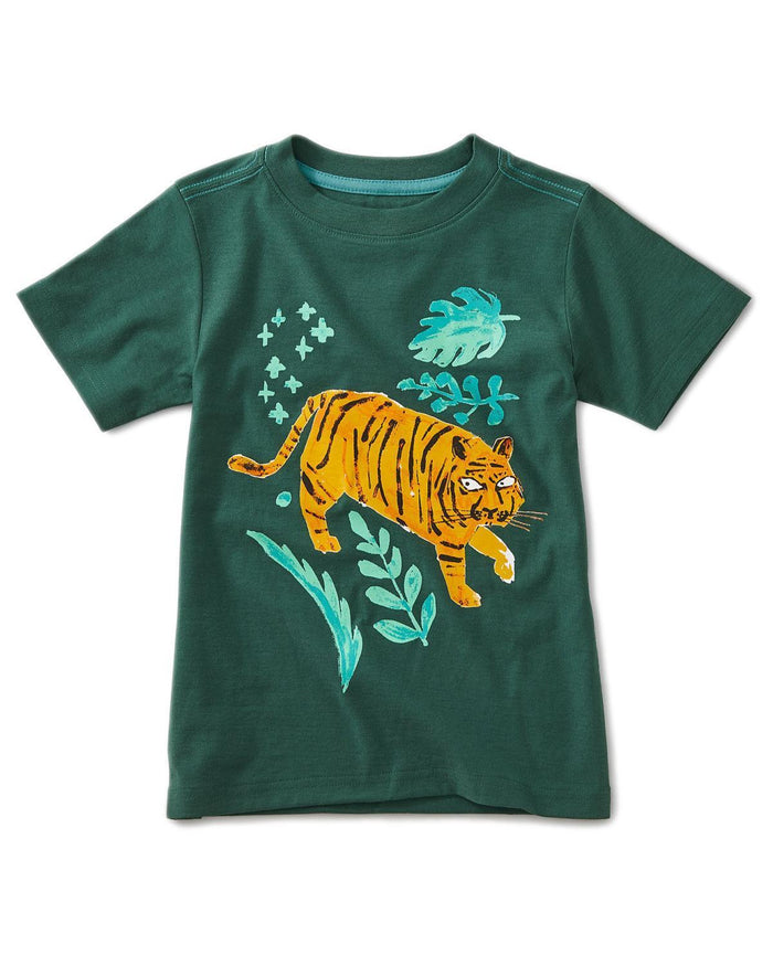 Little tea collection boy 10 jungle tiger graphic tee