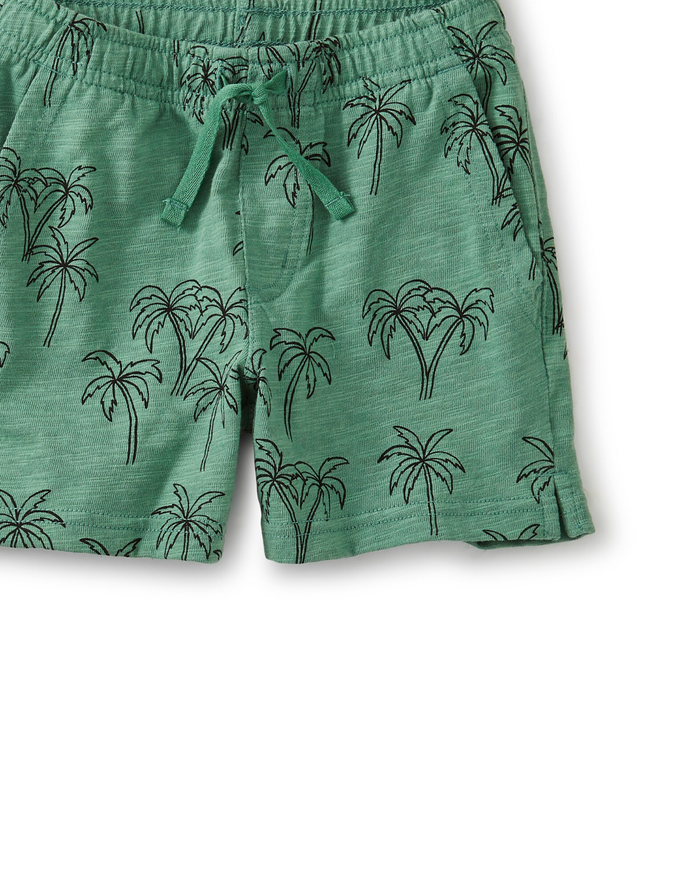 Little tea collection boy knit shortie in palm trees