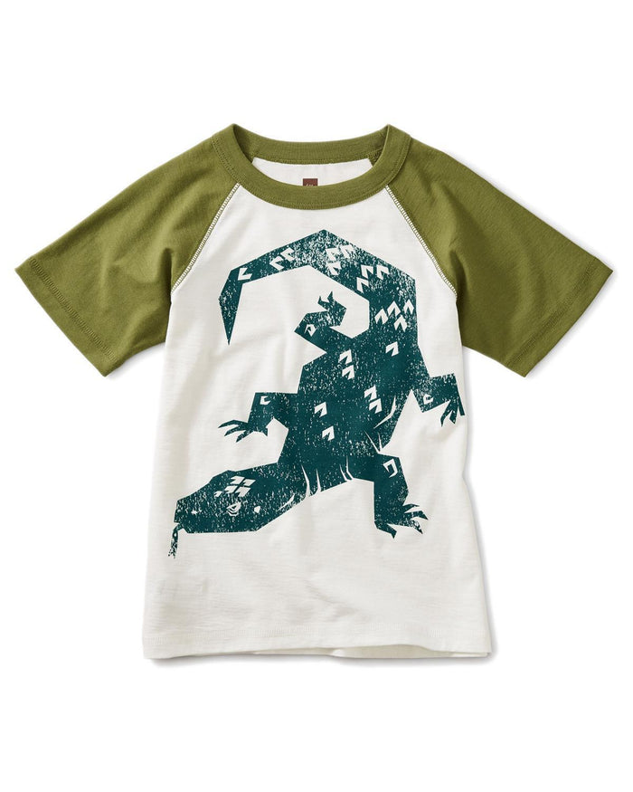 Little tea collection boy 10 komodo raglan graphic tee