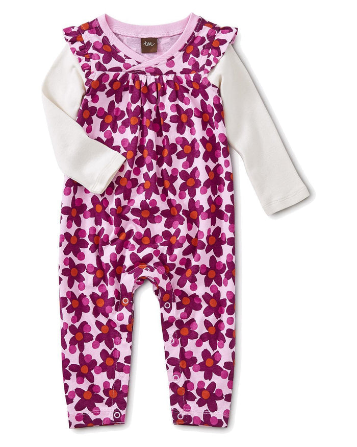 Little tea collection baby girl 0-3 lanai wrap neck romper