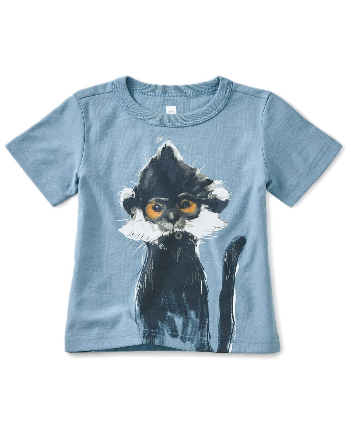 Little tea collection baby boy 12-18 langur baby graphic tee