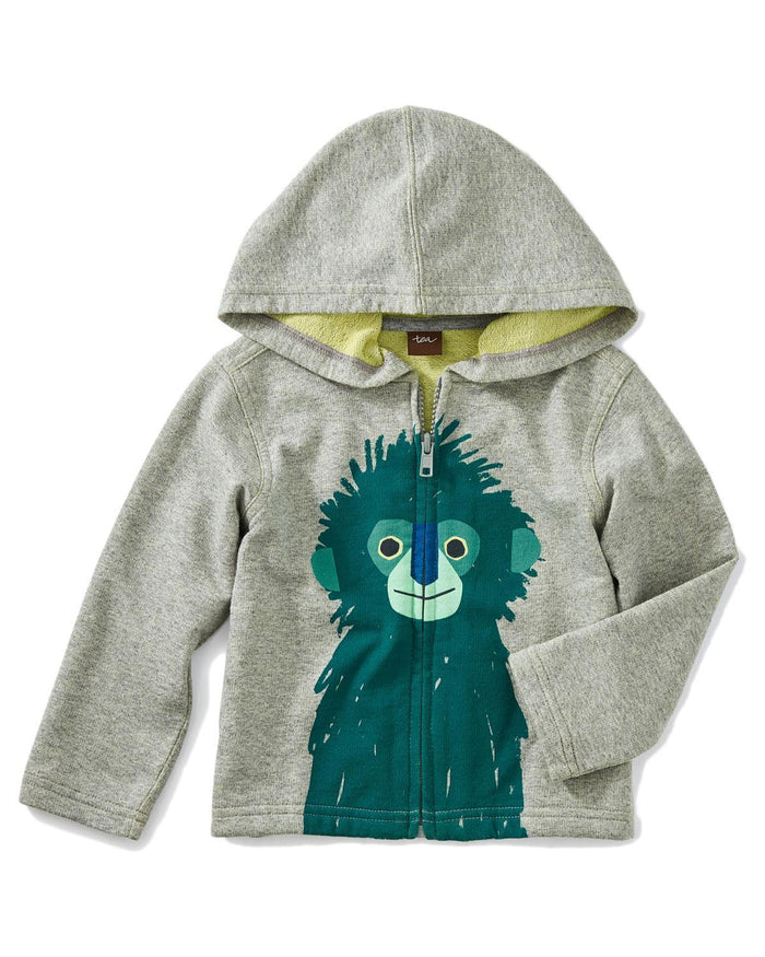 Little tea collection baby boy 12-18 langur zip baby hoodie