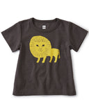 Little tea collection baby boy lion cub baby tee in pepper