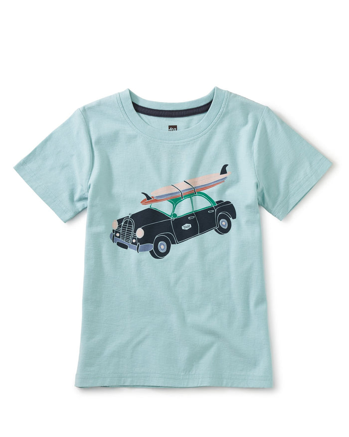 Little tea collection boy lizzy lizzy surf car tee