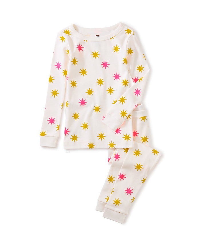 Little tea collection girl long sleeve pajama set in nautical stars