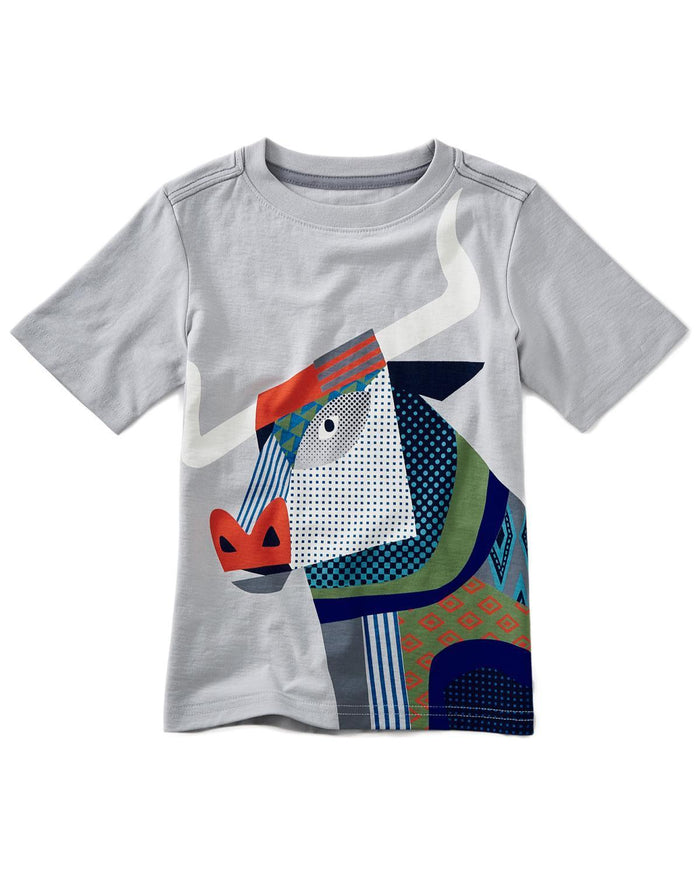Little tea collection boy 10 longhorn graphic tee