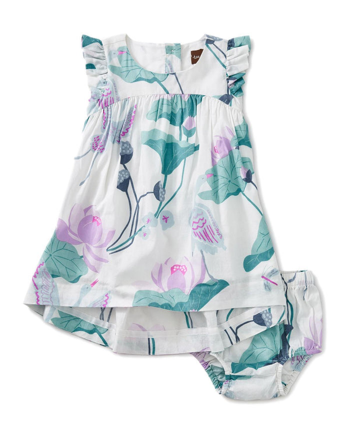Little tea collection baby girl 12-18 lotus hi-lo baby dress
