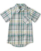 Little tea collection boy madras plaid woven shirt in spetses plaid
