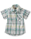 Little tea collection baby boy madras woven baby shirt in spetses plaid