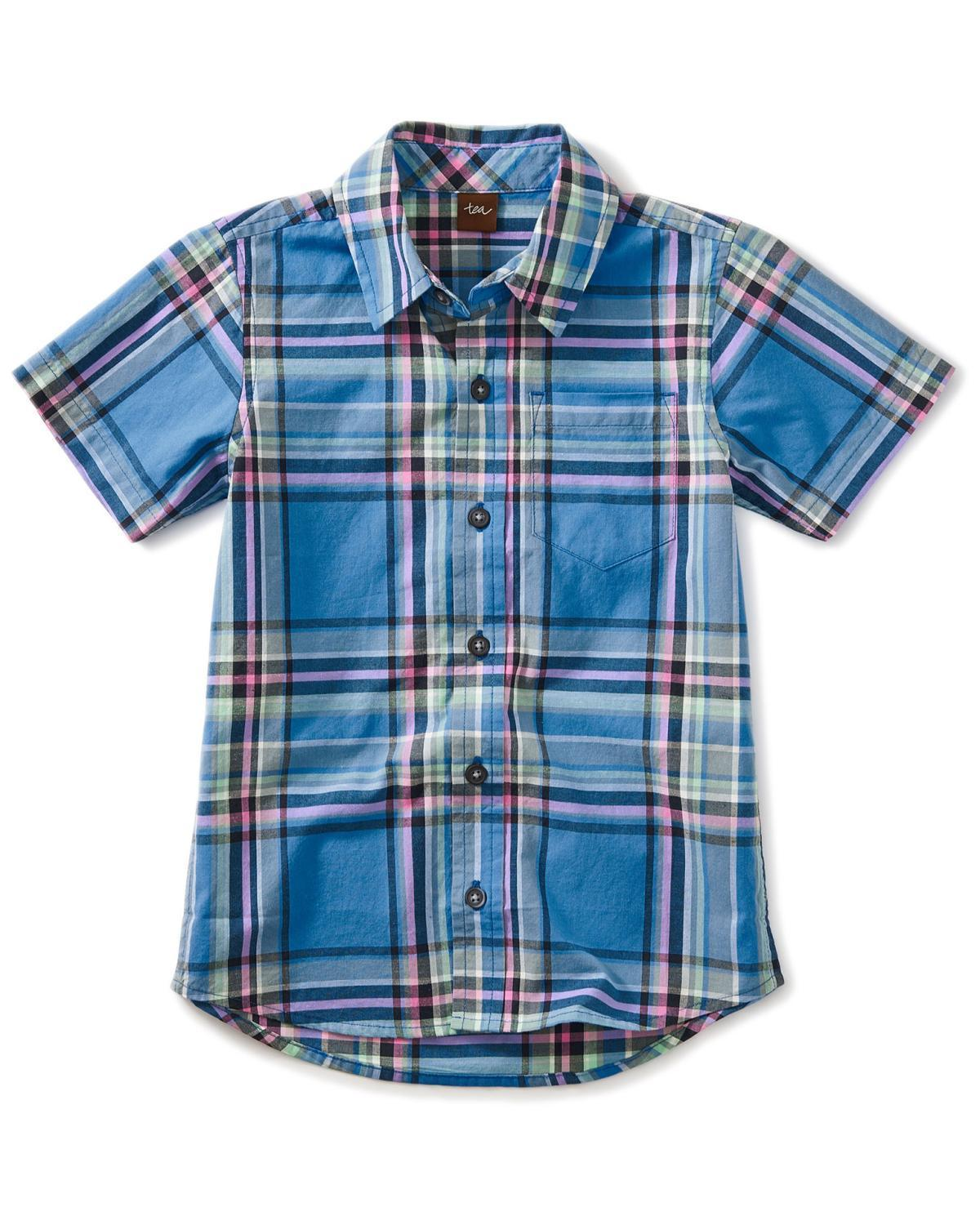 Little tea collection boy 10 madras woven shirt
