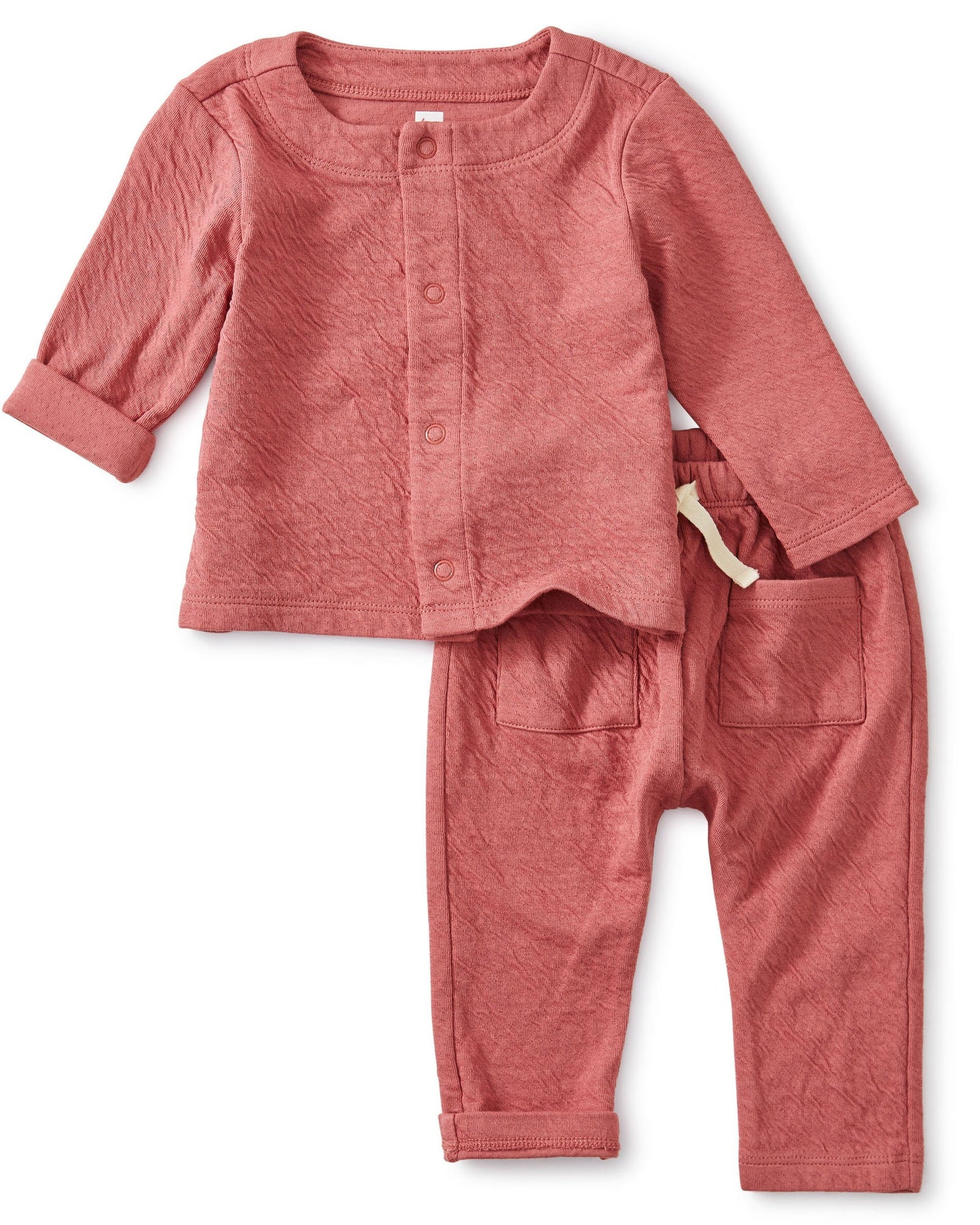 Little tea collection layette match made rose crinkle set