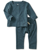 Little tea collection layette match made teal crinkle set