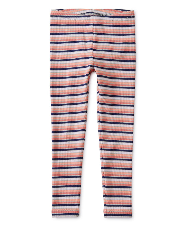 Little tea collection girl multi stripe ribbed leggings in stratus