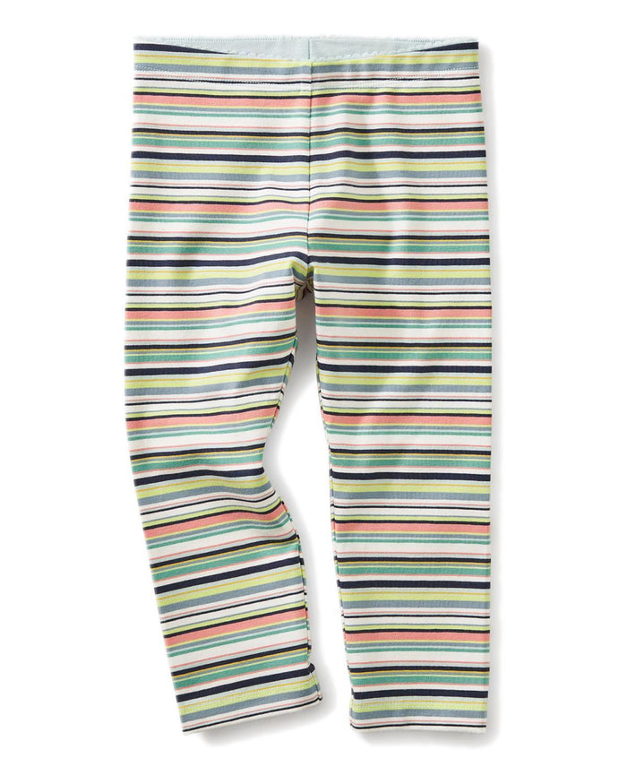 Little tea collection girl 10 multistripe capri leggings