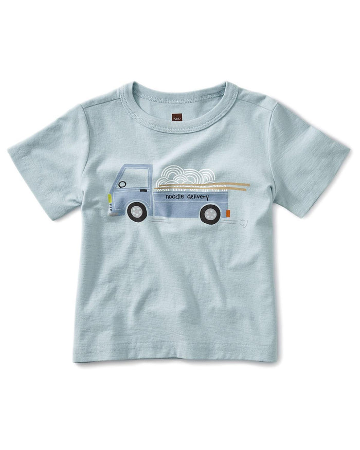 Little tea collection little boy 12-18 noodle truck baby graphic tee