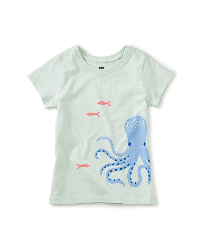 Little tea collection girl octopus' garden uv graphic tee