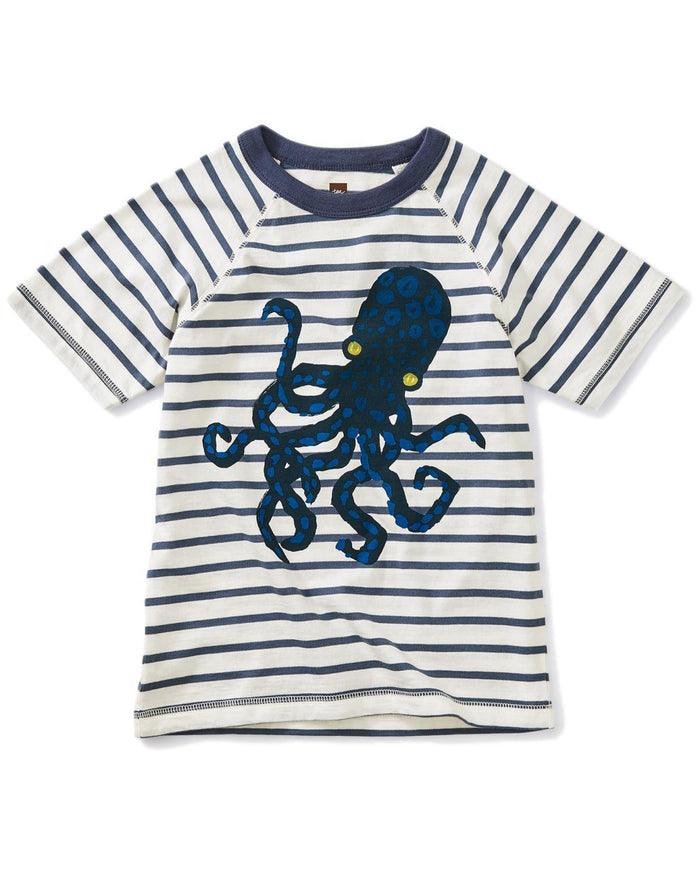 Little tea collection boy 10 octopus striped graphic tee