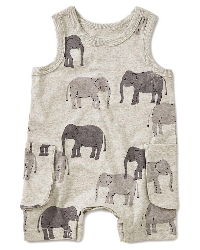 Little tea collection baby boy 3-6 patterned tank romper