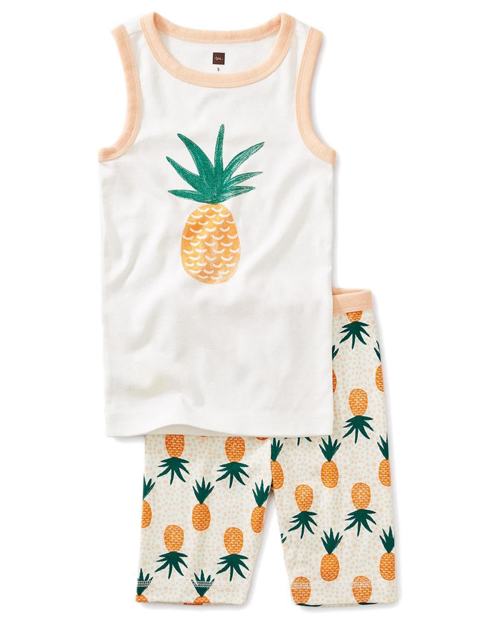 Little tea collection girl 10 pineapple graphic tank pajamas