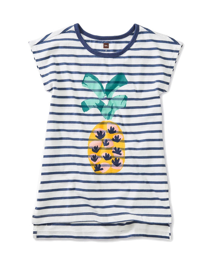 Little tea collection girl 10 pineapple hi-lo tunic