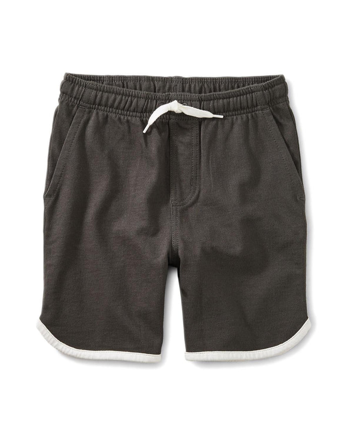Little tea collection boy 10 piped knit shorts in iron