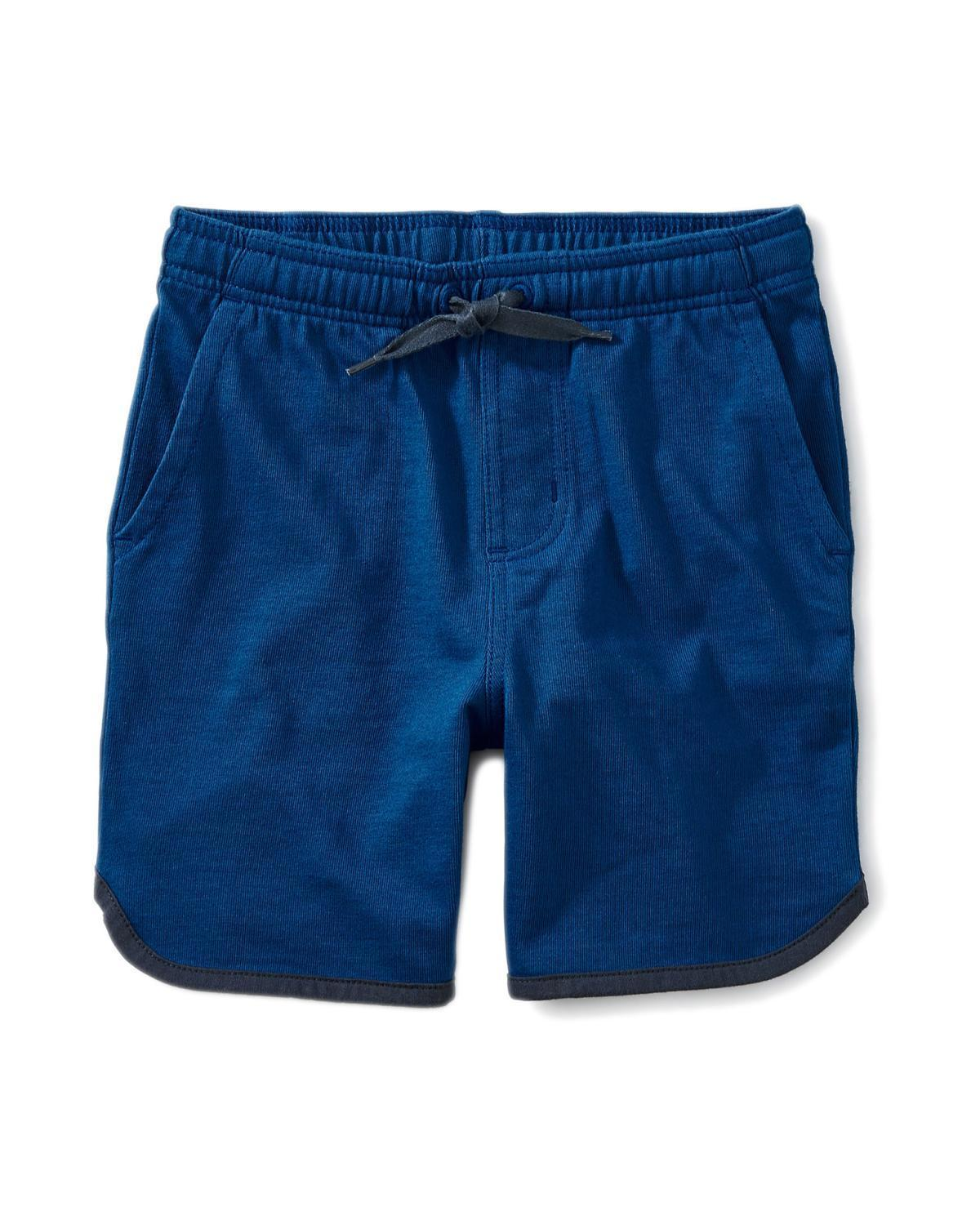 Little tea collection boy 10 piped knit shorts nin marine