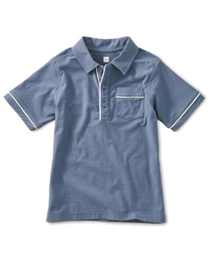 Little tea collection boy 10 piped polo