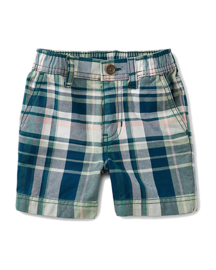 Little tea collection baby boy 12-18 plaid baby travel shorts