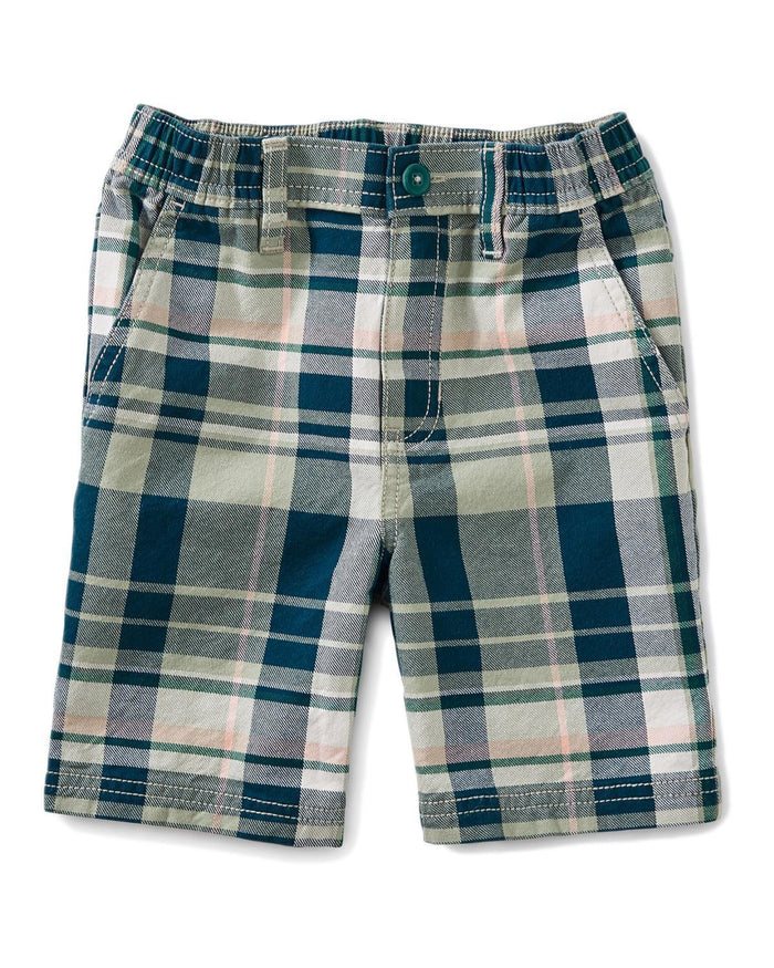Little tea collection boy 4 plaid travel shorts