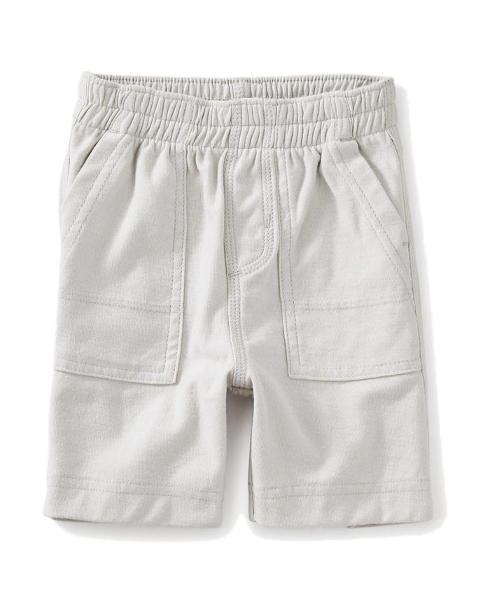 Little tea collection baby boy 3-6 playwear baby shorts in lunar rock