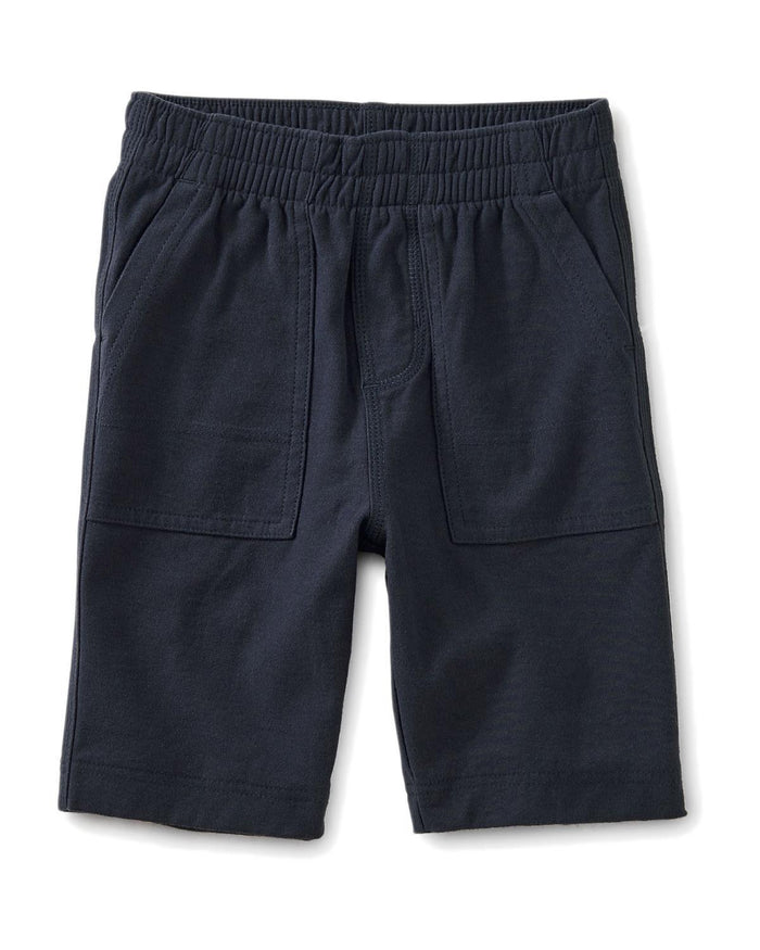 Little tea collection boy 10 playwear shorts in indigo