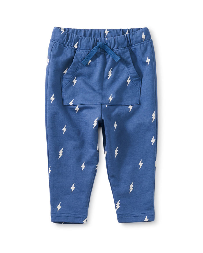 Little tea collection baby boy pocket o' sunshine baby pants in lightning