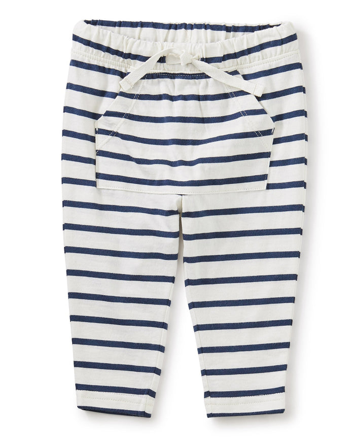 Little tea collection baby girl pocket 'o sunshine pant in chalk