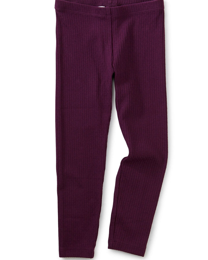 Little tea collection girl pointelle leggings in elderberry