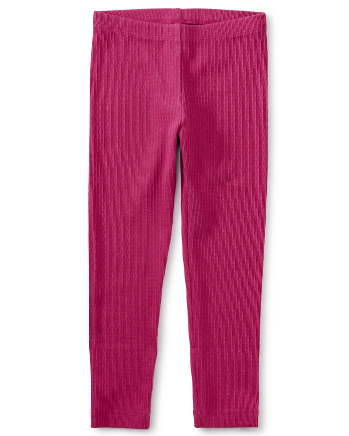 Little tea collection girl pointelle leggings in fiesta pink