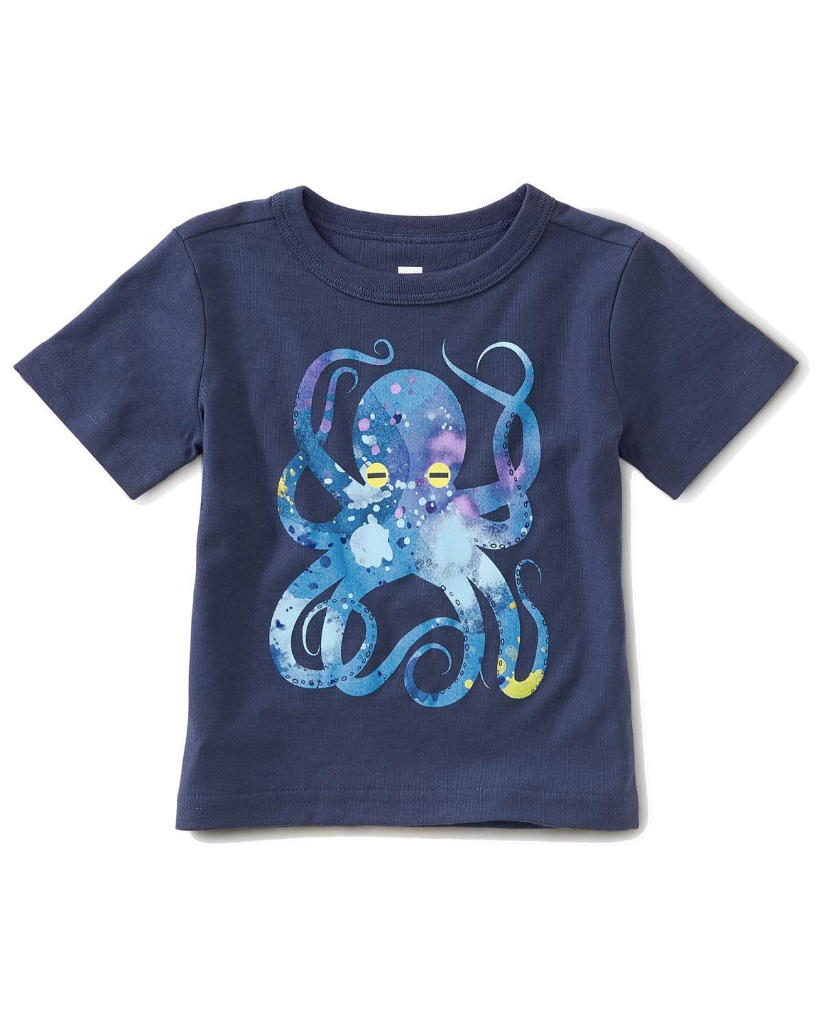 Little tea collection baby boy 3-6 pop octopus baby graphic graphic tee