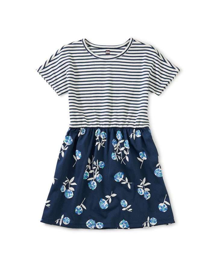 Little tea collection girl print mix twirl dress in flower bunches