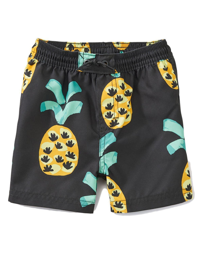 Little tea collection baby boy 12-18 printed baby swim trunks
