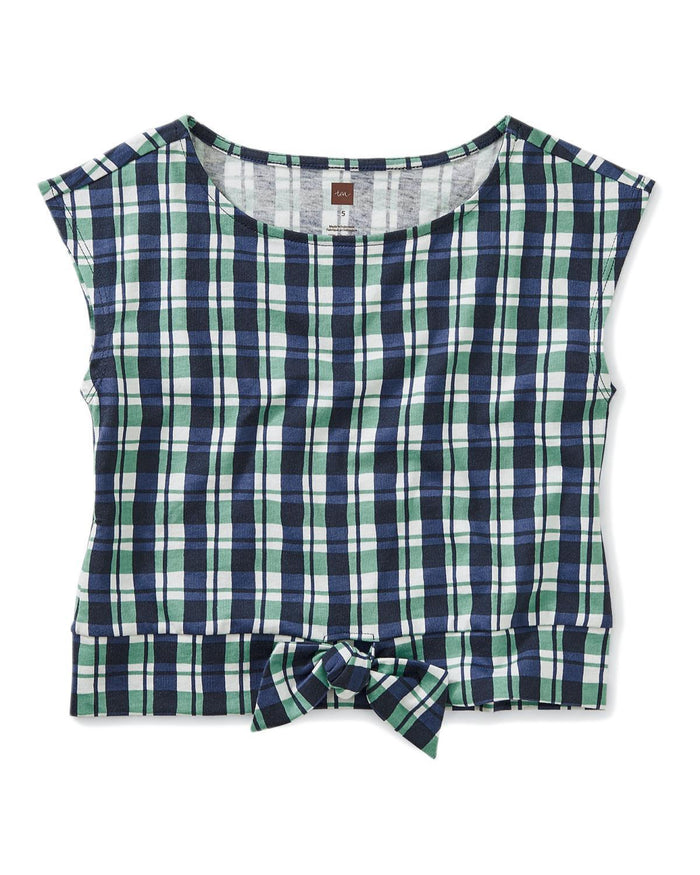 Little tea collection girl 5 printed bow waist top