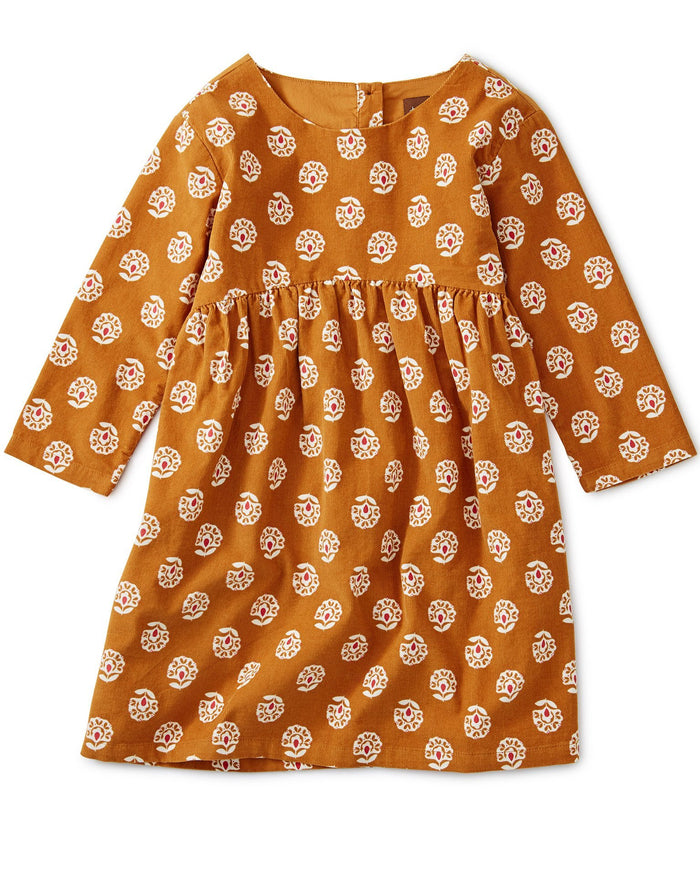 Little tea collection girl printed cord dress