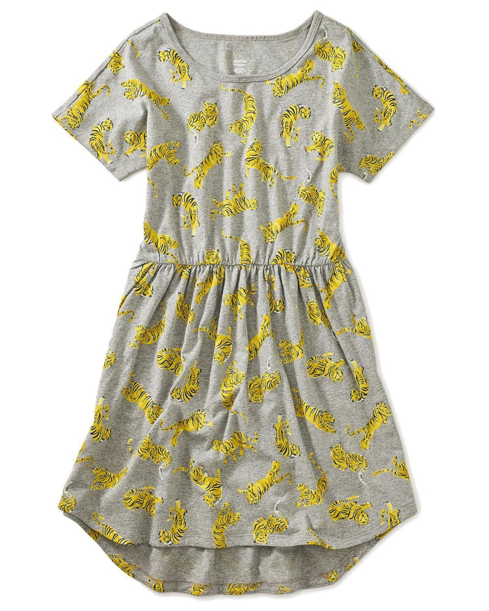 Little tea collection big girl 10 printed elastic waist dress