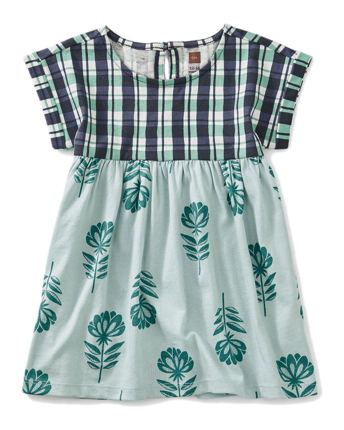 Little tea collection baby girl 12-18 printed empire baby dress in stacked floral