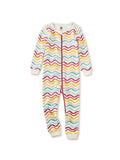 Little tea collection baby girl Printed Long Sleeve Baby Pajamas in Rainbow Waves