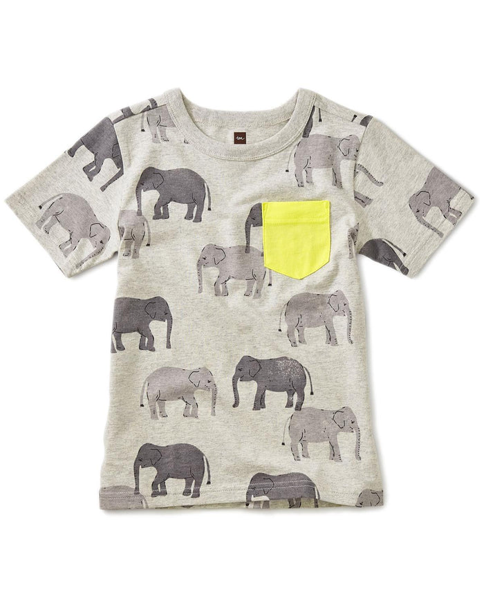 Little tea collection boy 10 printed pocket tee