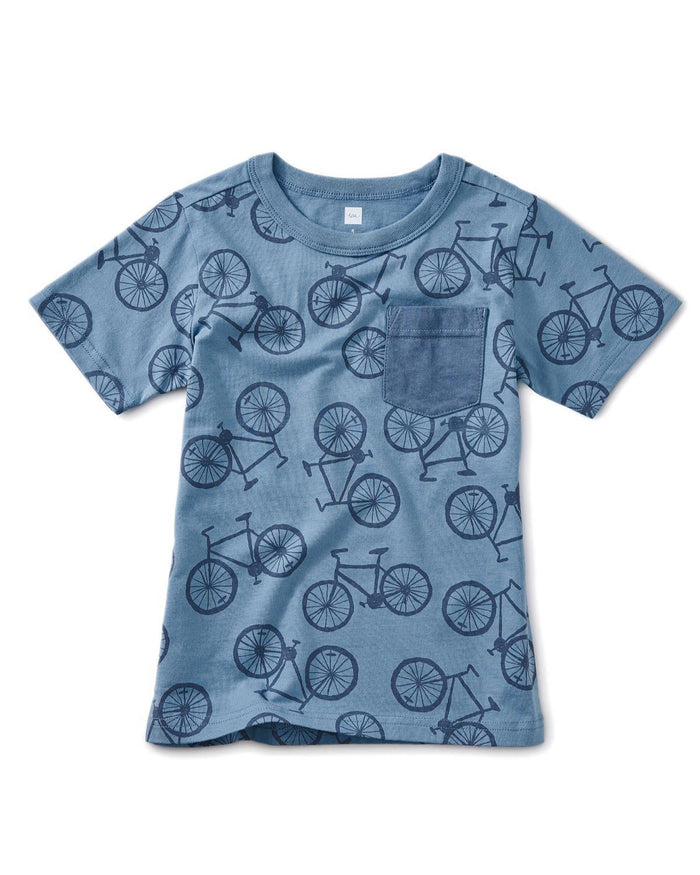 Little tea collection boy 5 printed pocket tee