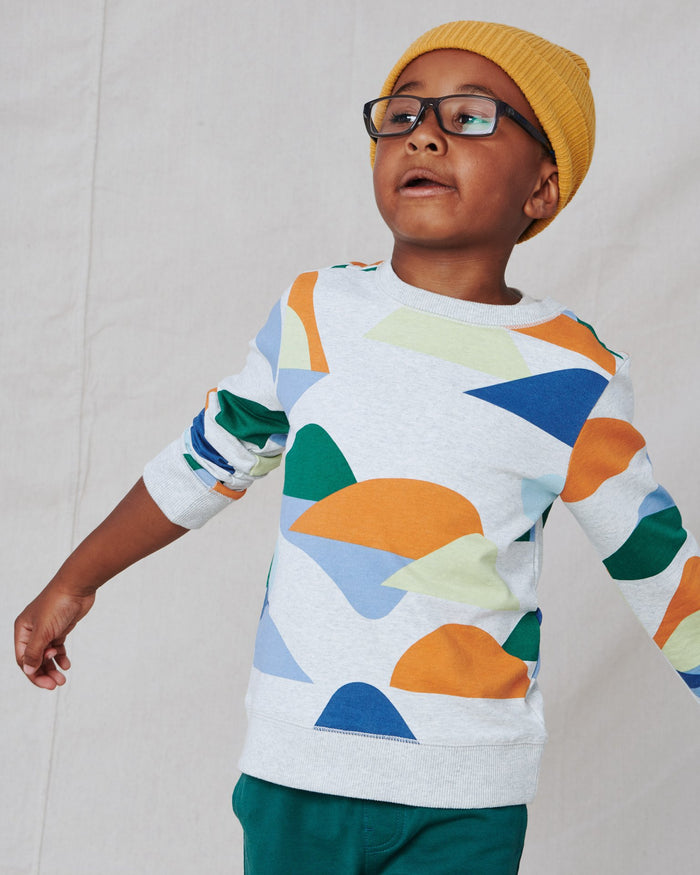 Little tea collection boy printed popover in montana