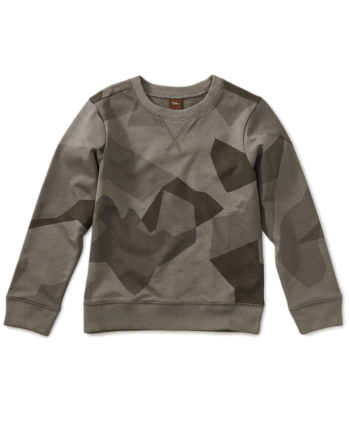 Little tea collection boy printed popover in mountain camo