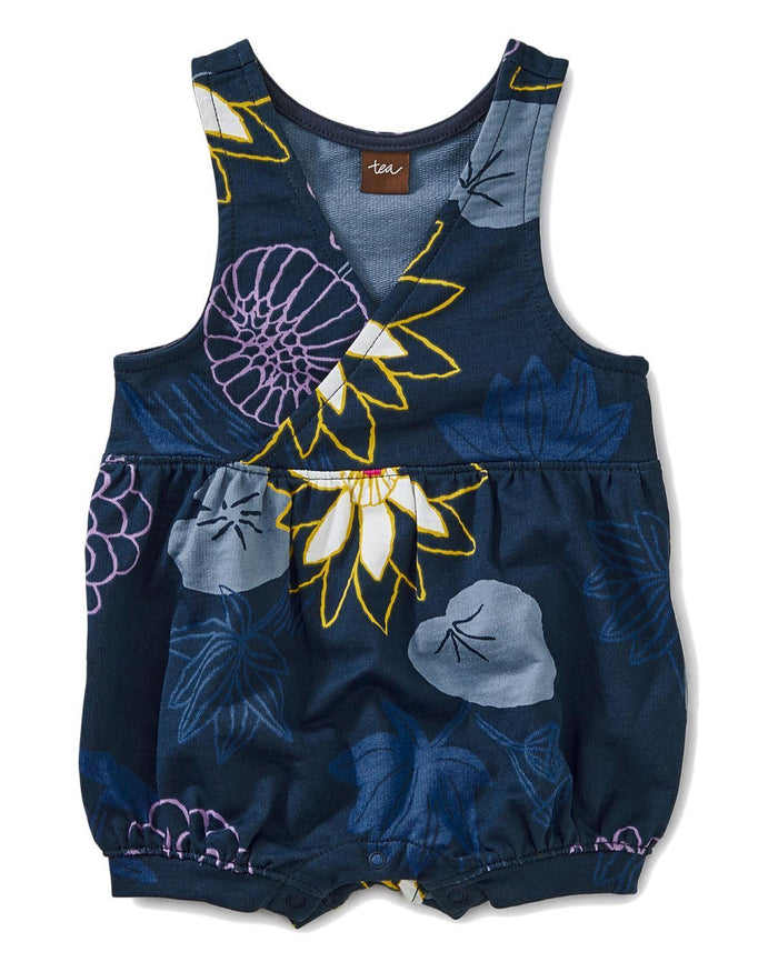Little tea collection baby girl 0-3 printed shortall