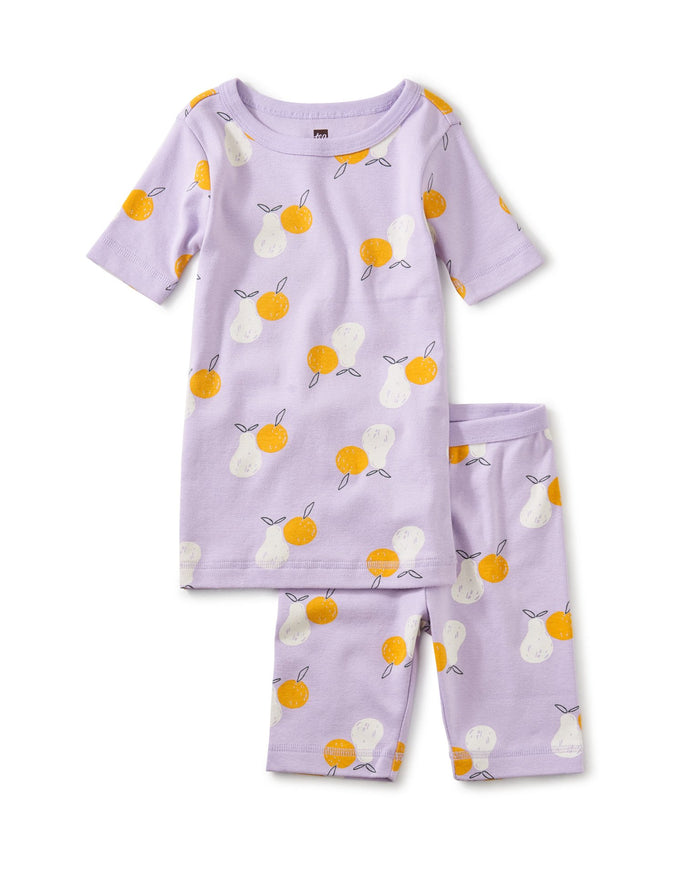 Little tea collection girl printed shortie pajama set in modern fruit