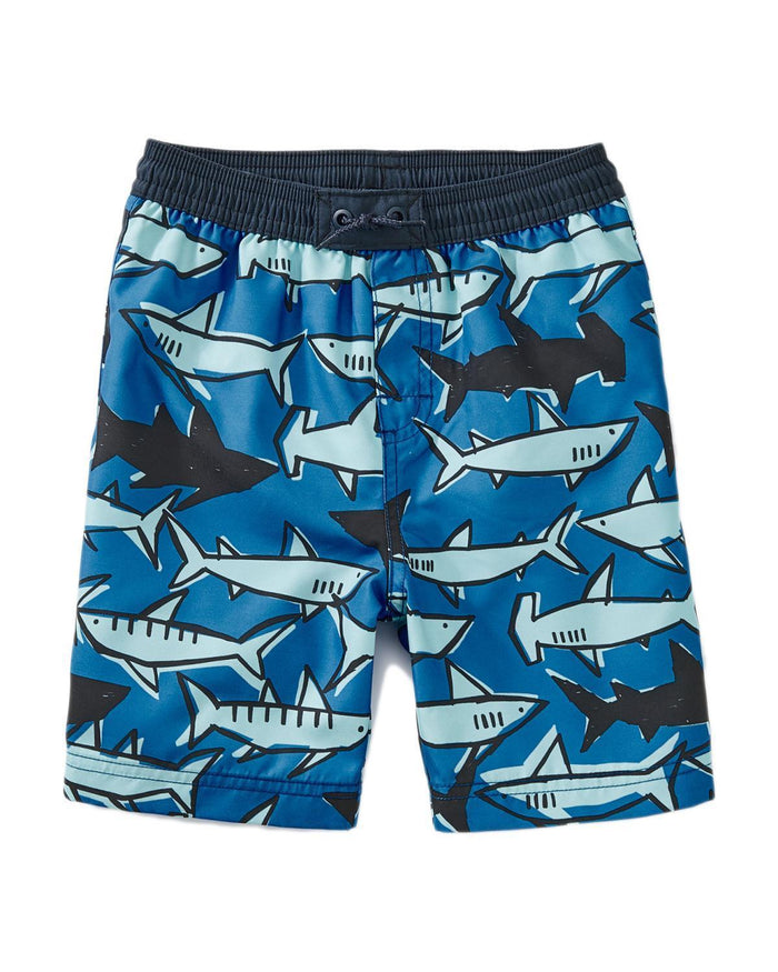 Little tea collection boy 10 printed swim trunks